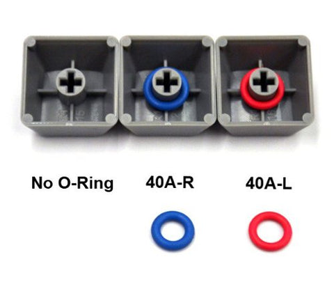 Cherry MX Rubber O-Ring Switch Dampeners Blue 40A-R - 0.4mm Reduction (125pcs): Computers & Accessories - Gamersitemshop
