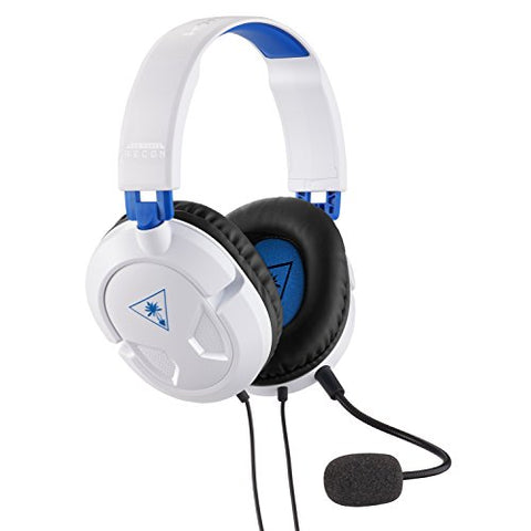Turtle Beach Recon 50P White Gaming Headset for PS4 Pro, PS4, Xbox One: playstation 4 - Gamersitemshop