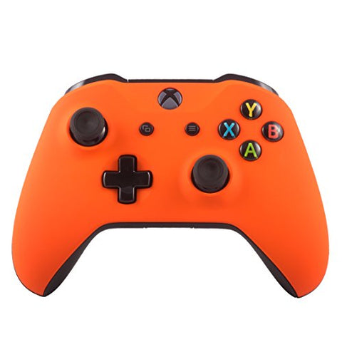 Xbox One S Wireless Bluetooth Controller Custom Soft Touch (Orange): - Gamersitemshop