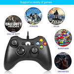 Xbox 360 Controller,USB Game Controller for Microsoft Xbox & Slim 360 PC Windows 7 (Black) - Gamersitemshop