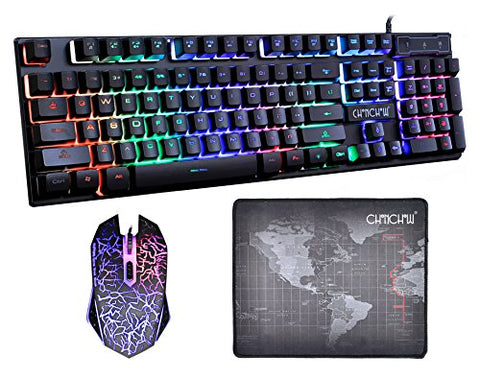 Mechanical Keyboard/Mouse & Mouse pad combo - Gamersitemshop
