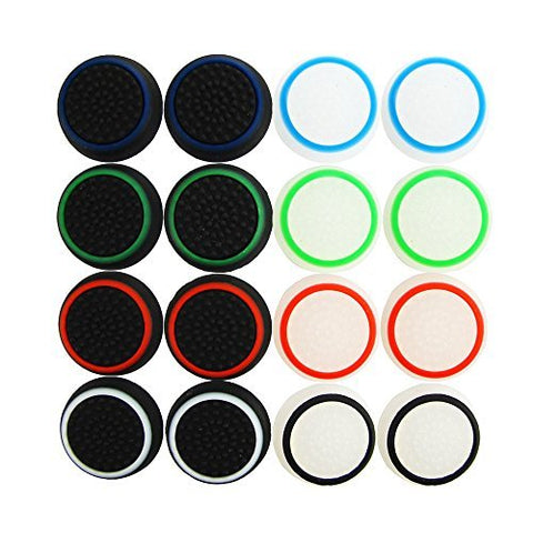 Pack of 16pcs Pandaren Thumb Grip Thumbstick Noctilucent Sets for PS2, PS3, PS4, Xbox 360, Xbox One Controller: Video Games - Gamersitemshop
