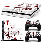 NDAD Skin Decal Stickers Covers for Sony PS4 Red White - Gamersitemshop