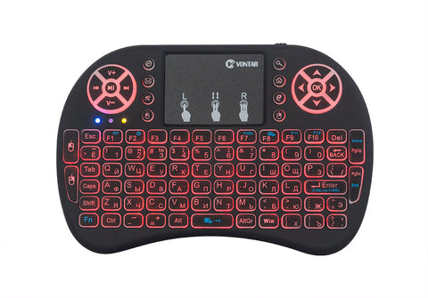 Backlight mini i8 2.4GHz Wireless Keyboard  Touchpad mouse - Gamersitemshop