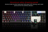 Wired Mechanical Keyboard 104 Keys Real RGB Blue Switch LED - Gamersitemshop