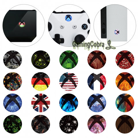30 Pairs Skin Sticker Decal Home Power Switch Buttons for Xbox One S for Xbox One X Controller Console - Gamersitemshop