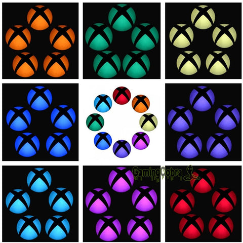 Logo Power Button Wrap Stickers LED Color Change Skin Cover for Xbox One Console - Gamersitemshop