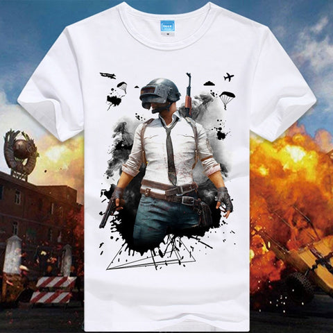PUBG Game Playerunknown's Battlegrounds Male O-Neck T shirts - Gamersitemshop