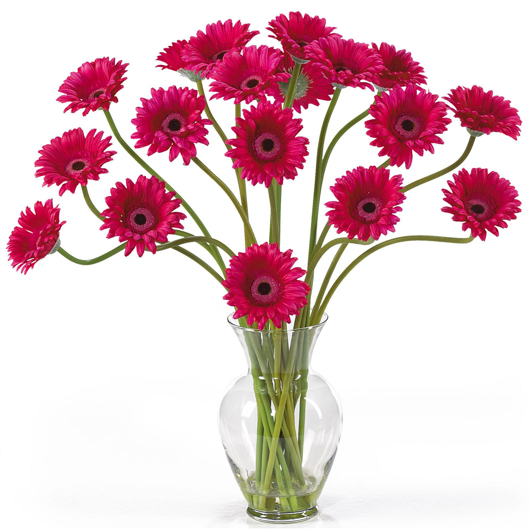 Gerber Daisy Liquid Illusion Silk Flower Arrangement - Beauty