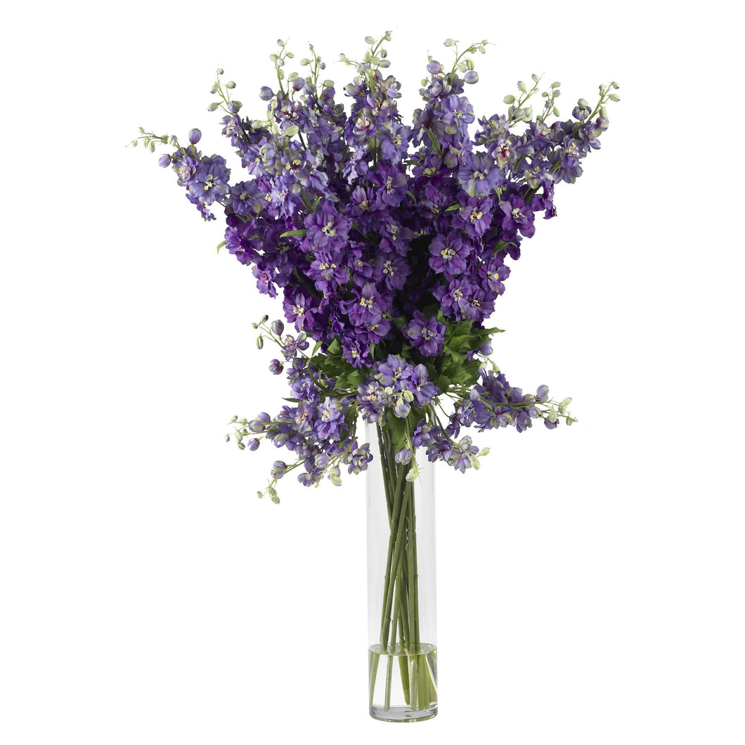Delphinium Silk Flower Arrangement - Purple