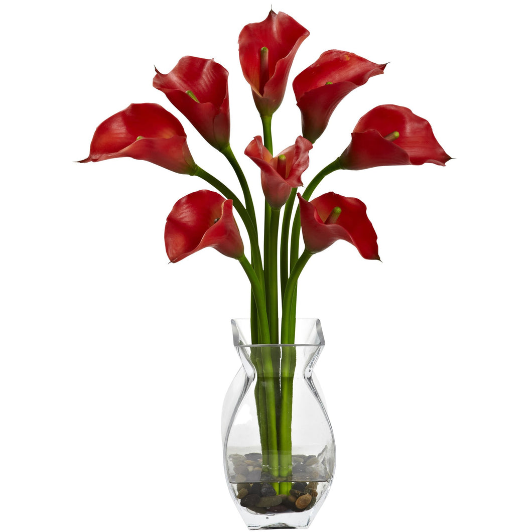 Classic Calla Lily Arrangement - Red