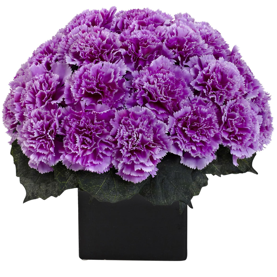 Carnation Arrangement w/Vase - Purple