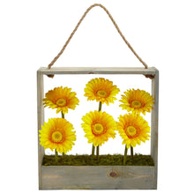Load image into Gallery viewer, Gerber Daisy Garden in Hanging Frame
