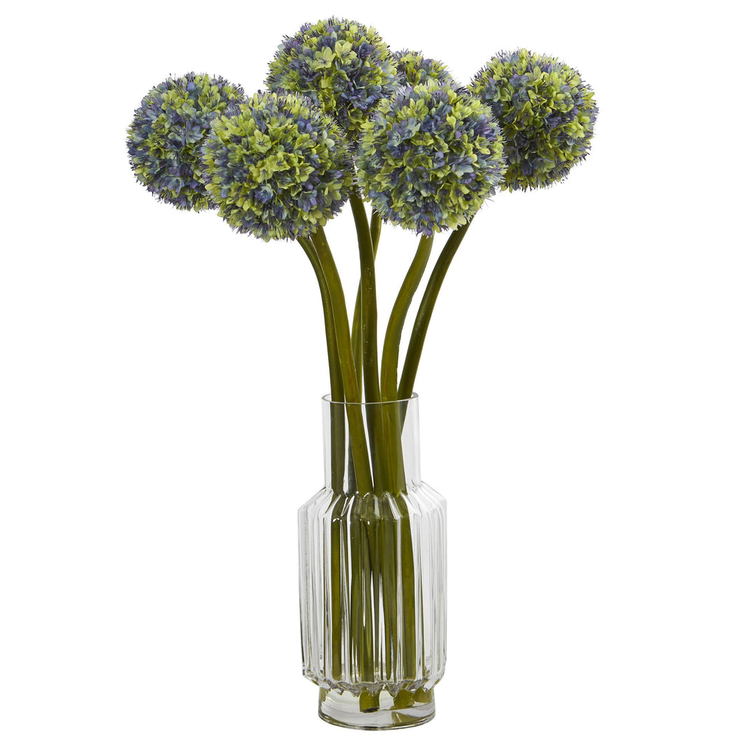 Ball Flower Artificial Arrangement in Vase