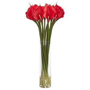 "28"" Calla Lilly Artificial Arrangement - Red"