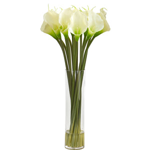 "28"" Calla Lilly Artificial Arrangement - White"