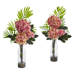 Tropical Mum Artificial Arrangement (Set of 2) - Mauve