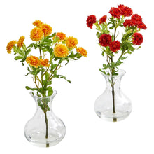 Load image into Gallery viewer, Japanese Artificial Arrangement in Vase (Set of 2)