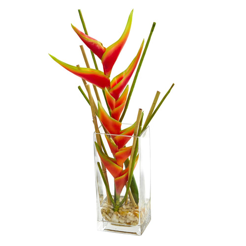 Mini Heliconia Artificial Arrangement
