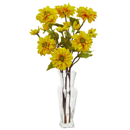 Zinnia Artificial Arrangement - Yellow