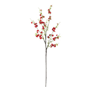 "38"" Cherry Blossom Artificial Flower (Set of 6) - Red"