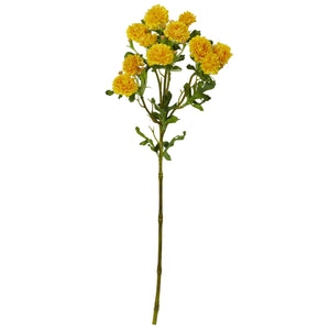 "17"" Japanese Flower Artificial Flower (Set of 8) - Yellow"