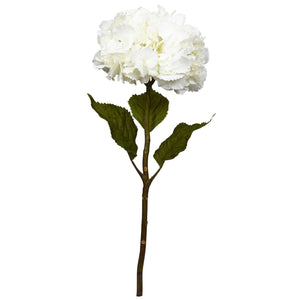 "28"" Hydrangea Artificial Flower (Set of 3) - White"