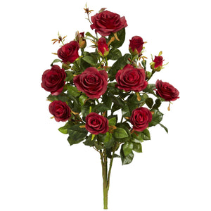 "28"" Garden Rose Artificial Plant (Set of 2) - Red"