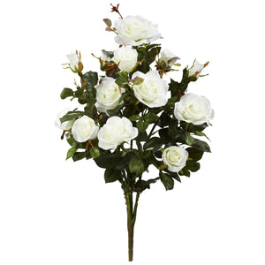 "28"" Garden Rose Artificial Plant (Set of 2) - White"