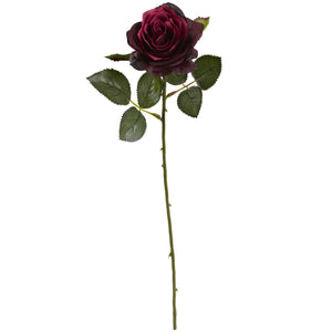 "18"" Rose Artificial Flower (Set of 24) - Burgundy"