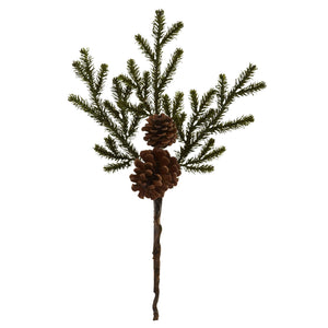 "19"" Pine & Pinecone Artificial Flower Bundle (Set of 12))"