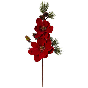 "36"" Magnolia and Pine Artificial Flower (Set of 2)"