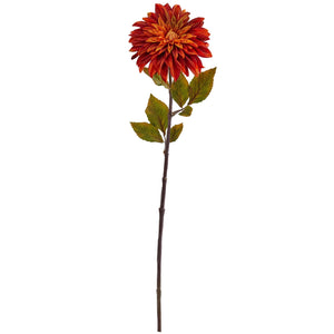 "28"" Dahlia Artificial Flower (Set of 6) - Orange"
