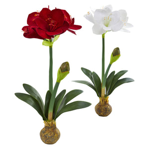 "25"" Amaryllis Artificial Flower (Set of 2)"