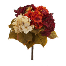 "Load image into Gallery viewer, 16"" Autumn Hydrangea Berry Bouquet Artificial Flower (Set of 2)"