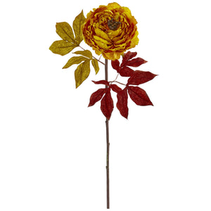 "30"" Peony Artificial Flower (Set of 6) - Yellow"