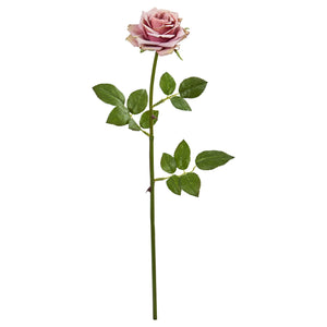 "19"" Rose Spray Artificial Flower (Set of 12) - Mauve"