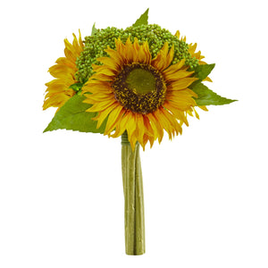 "12"" Sunflower Bundle Artificial Flower (Set of 3)"