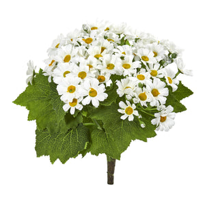 Daisy Bush Artificial Flower (Set of 6) - White