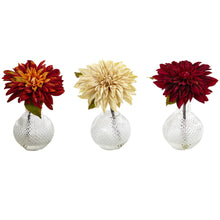 Load image into Gallery viewer, Dahlia w/Decorative Vase (Set of 3)