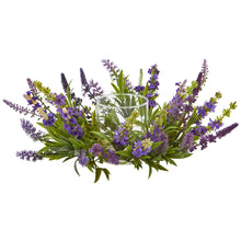 Load image into Gallery viewer, Lavender Artificial Arrangement Candelabrum