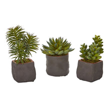 Load image into Gallery viewer, Mixed Succulent Trio Artificial Plant (Set of 3)