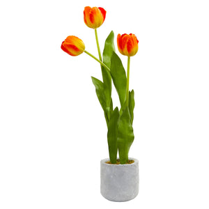Tulip Artificial Arrangement in Ceramic Vase