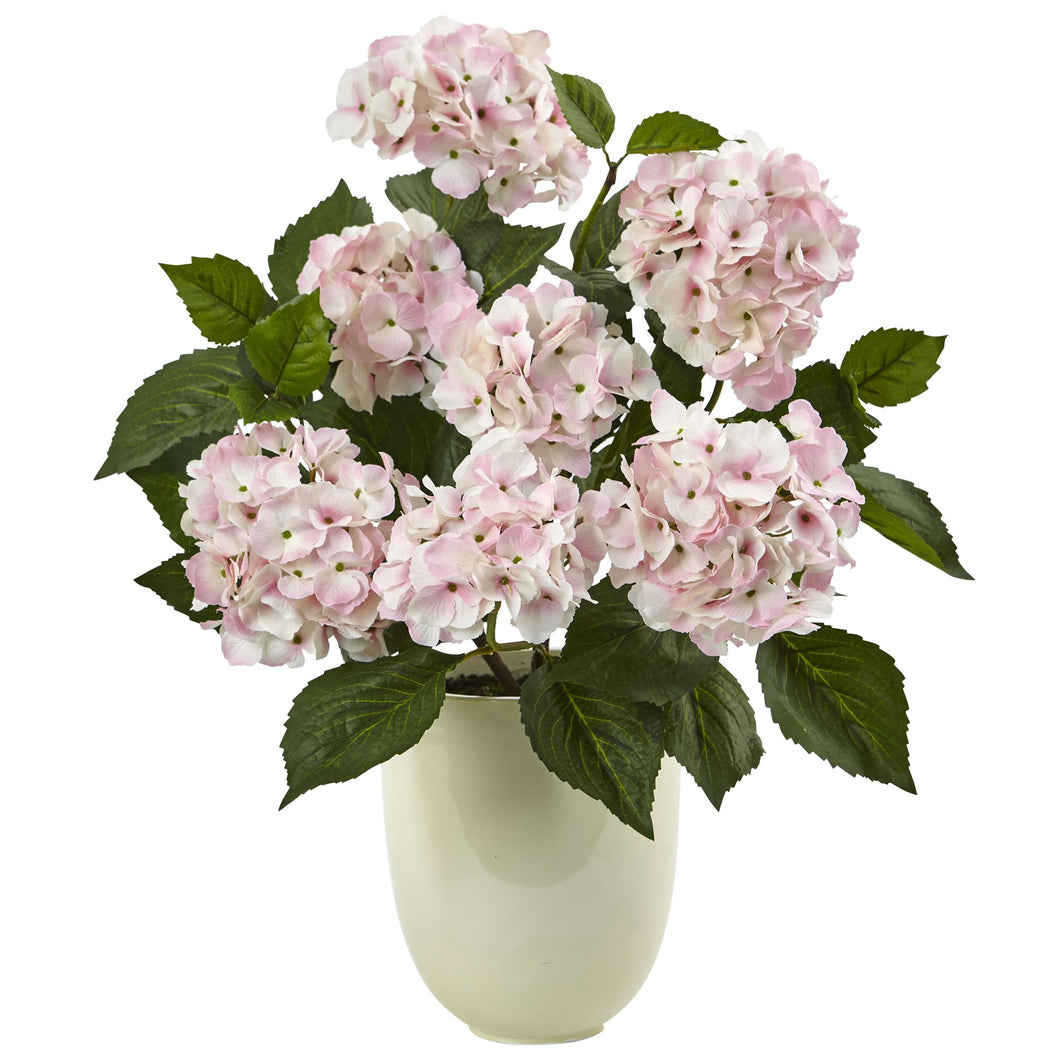 Hydrangea with White Planter