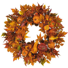 "Load image into Gallery viewer, 28"" Harvest Wreath"