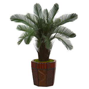 3' Cycas Artificial Tree in Bamboo Planter