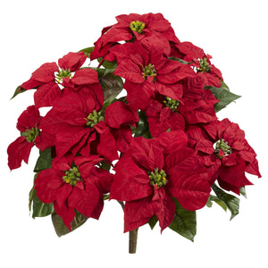 "24"" Poinsettia Artificial Plant (Set of 2)"