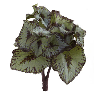 Rex Begonia Artificial Bush (Set of 12)