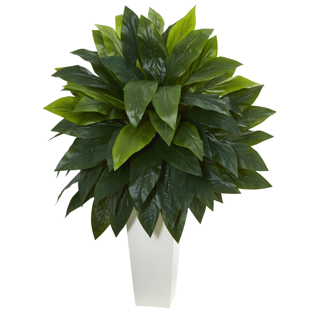 Cordyline Artificial Plant in White Tower Planter