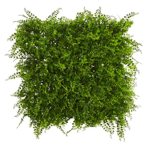 "20"" x 20"" Lush Mediterranean Artificial Fern Wall Panel UV Resistant (Indoor/Outdoor)"